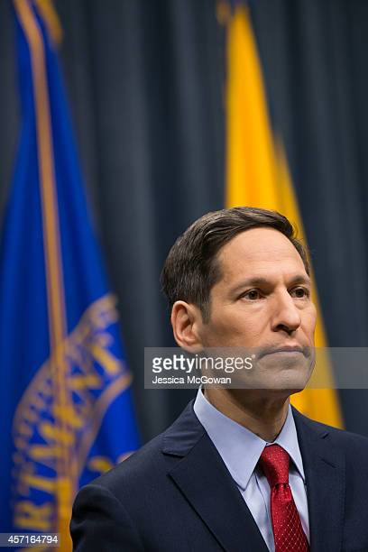 Center for Disease Control head Dr Thomas Frieden speaks duing a briefing on the Dallas Ebola response at the CDC Headquarters on October 13 2014 in...