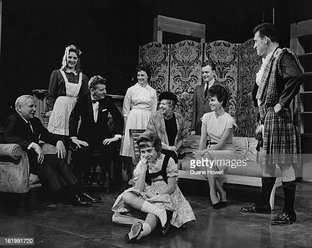 JAN 8 1963 JAN 13 1963 Center In Suasn English Left to right Francis S Van Derbur Carol Broader Robert Kain Nell Maguire Mary Jane Hampton Bob...