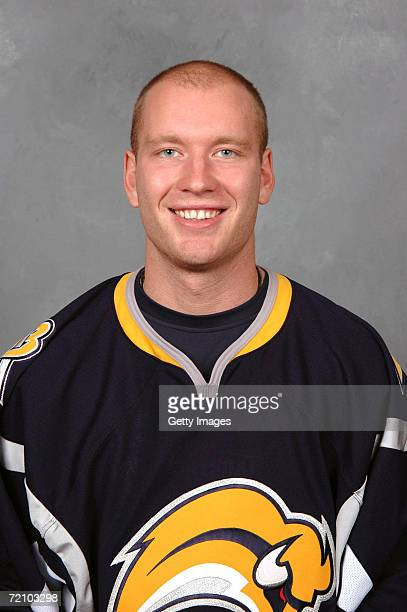 Center Jiri Novotny of the NHL Buffalo Sabres poses for a portrait at HSBC Arena on September 14 2006 in Buffalo New York