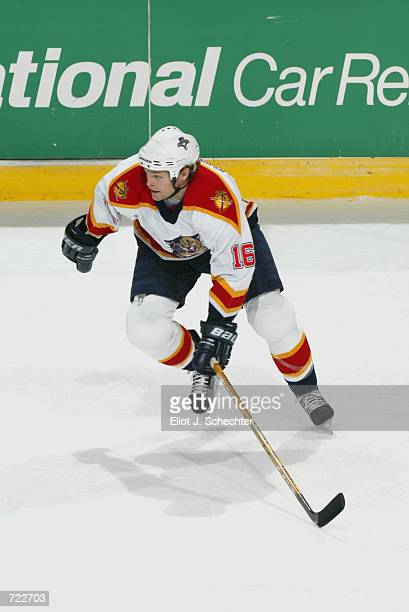 Center Kevyn Adams of the Florida Panthers skates against the Washington Capitals during the game on January 12 2002 at National Car Rental Center in...