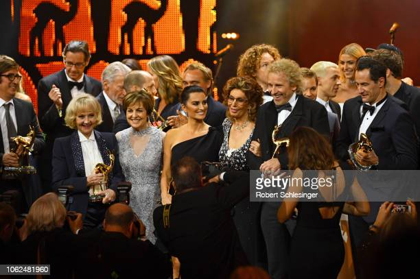 Center 'Livetime Achievement' award winner Liselotte Pulver Paola Felix 'Actress International' award winner Penelope Cruz Sophia Loren Thomas...