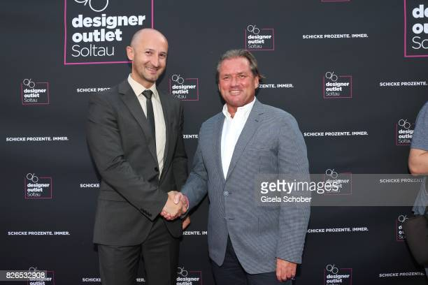 Center Manager Michael Lungkofler and Managing Director Thomas Reichenauer during the late night shopping at Designer Outlet Soltau on August 4 2017...