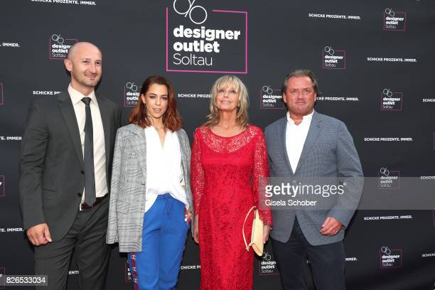 Center Manager Michael Lungkofler Vanessa Mai Bo Derek and Managing Director Thomas Reichenauer during the late night shopping at Designer Outlet...