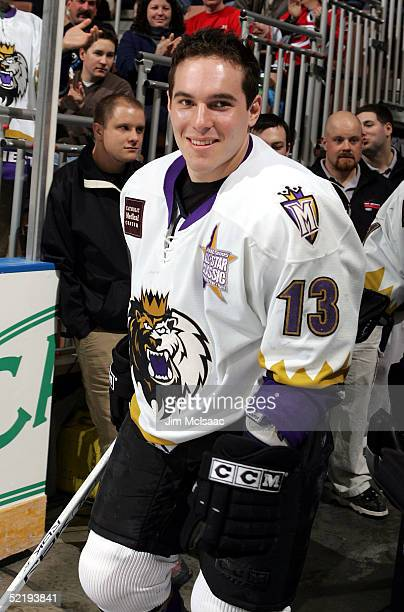 Center Mike Cammalleri of the Manchester Monarchs takes the ice for the American Hockey League All Star Skills Competition on February 13 2005 at...