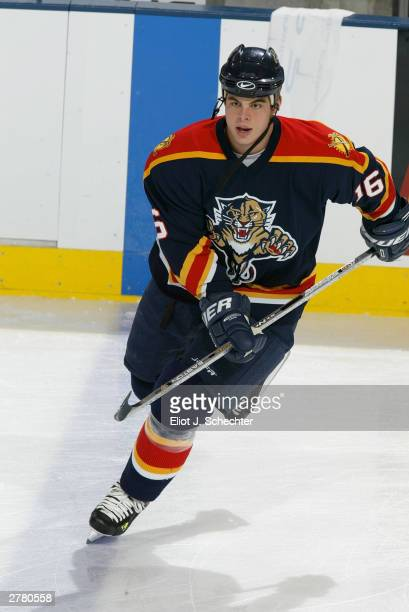 Center Nathan Horton of the Florida Panthers warms up prior to NHL action against the Tampa Bay Lightning on November 11, 2003 at the Office Depot...