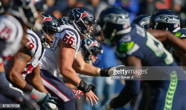 Center Nick Martin of the Houston Texans in action against the Seattle Seahawks at CenturyLink Field on October 29 2017 in Seattle Washington
