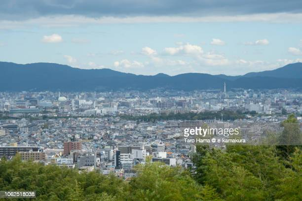 Center of Kyoto city in Kyoto prefecture in Japan