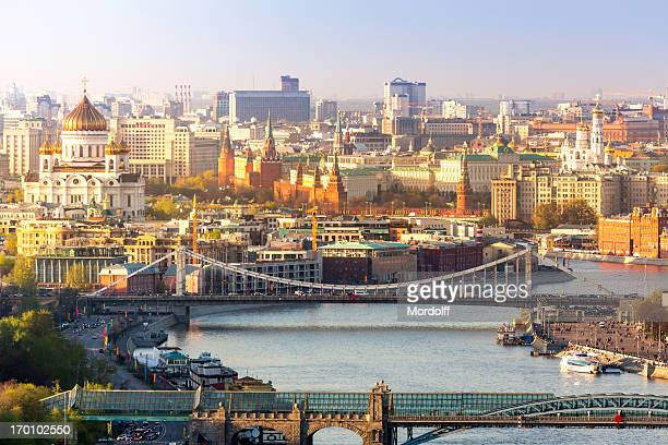 center of moscow in sunny day - moscow russia stock pictures, royalty-free photos & images
