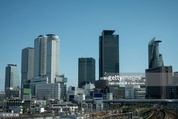 center of nagoya city in aichi prefecture - aichi prefecture stock pictures, royalty-free photos & images