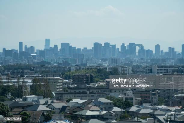 Center of Osaka city in Japan