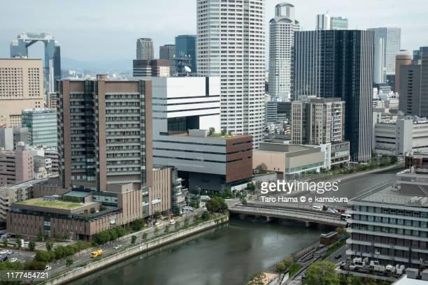center of osaka city in osaka prefecture of japan - taro hama ストックフォトと画像