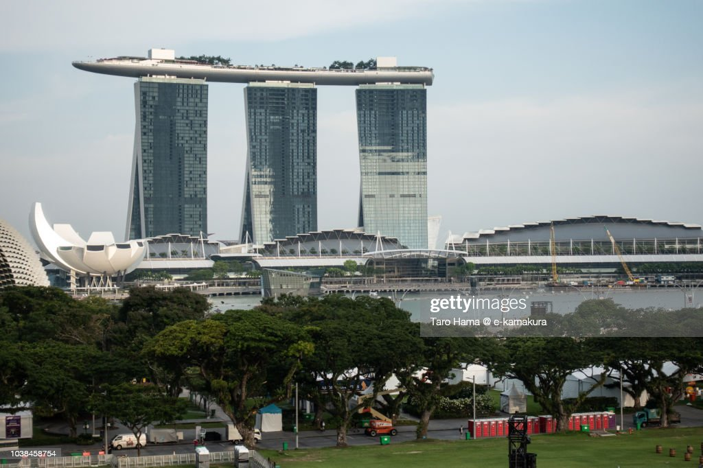 Center of Singapore city : Stock-Foto