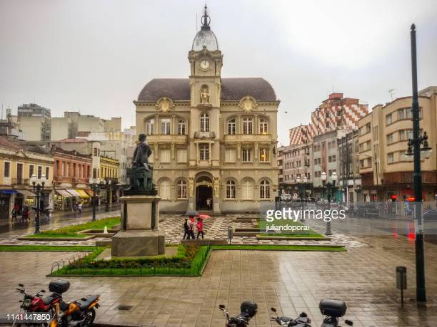 center of the curitiba city - paraná - parana state stock pictures, royalty-free photos & images