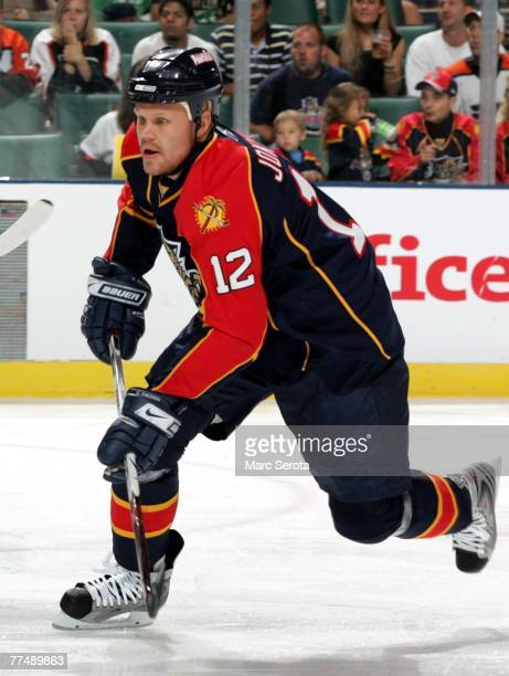 Center Oli Jokinen of the Florida Panthers scores a goal breaking the all time team record in points against the Philadelphia Flyers October 24, 2007...