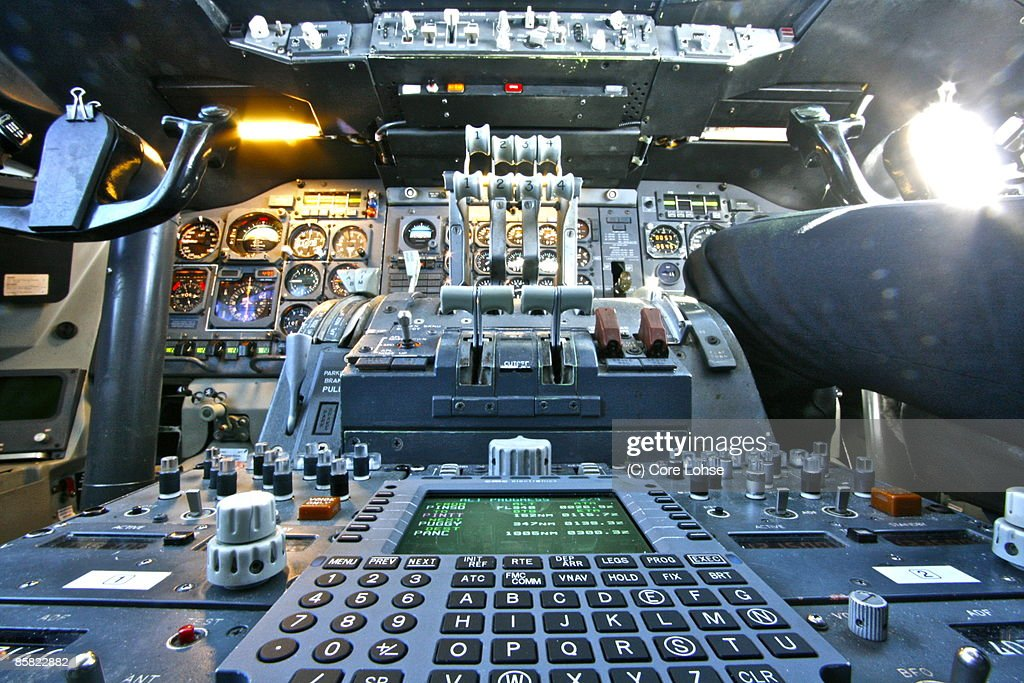 Center Pedestal of Boeing 747 Classic : Stock Photo