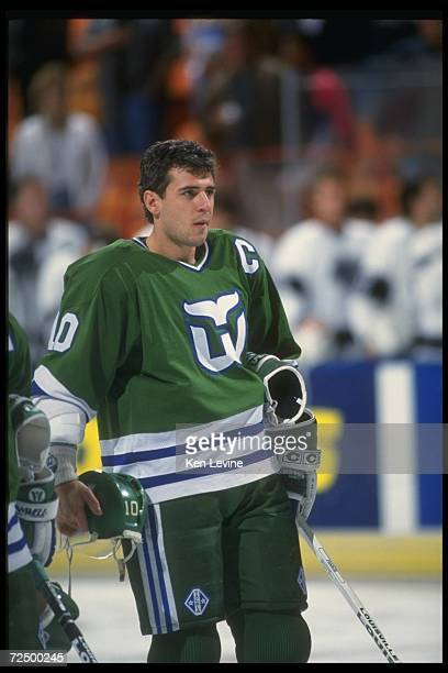 Center Ron Francis of the Hartford Whalers.