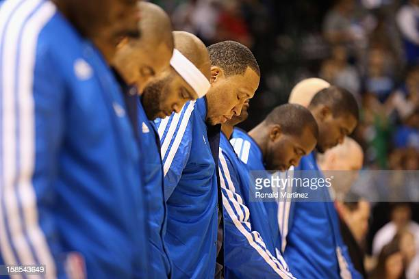 Center Shawn Marion and the Dallas Mavericks take a moment of silence for the victims of the shooting that took place at Sandy Hook elementary school...