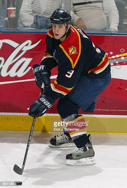 Center Stephen Weiss of the Florida Panthers advances the puck against the Philadelphia Flyers during the game at the Office Depot Center on January...