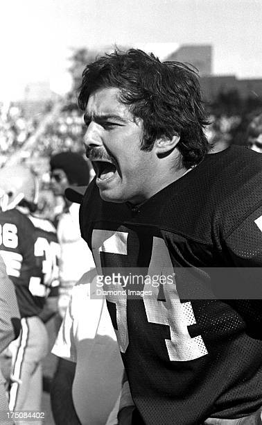 Center Tom Deleone of the Cleveland Browns yells at players from the sideline during a game on circa 1978 at Cleveland Municipal Stadium in Cleveland...