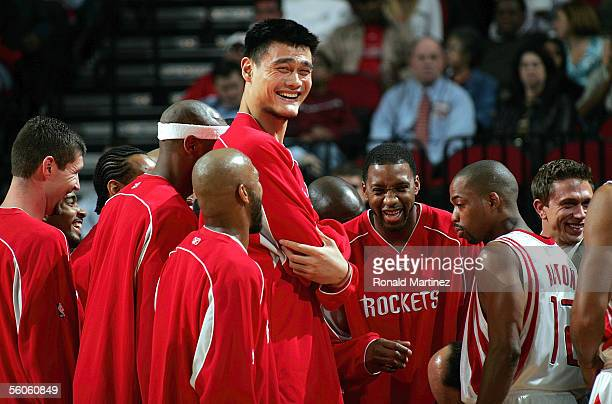 yao ming laugh stock photos and pictures getty images