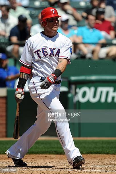 Centerfielder Josh Hamilton of the Texas Rangers on April 9 2009 at Rangers Ballpark in Arlington Texas
