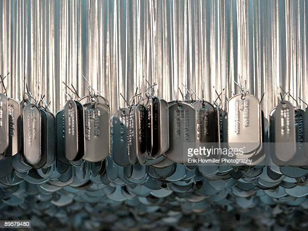 centerpiece - dog tag stock photos and pictures