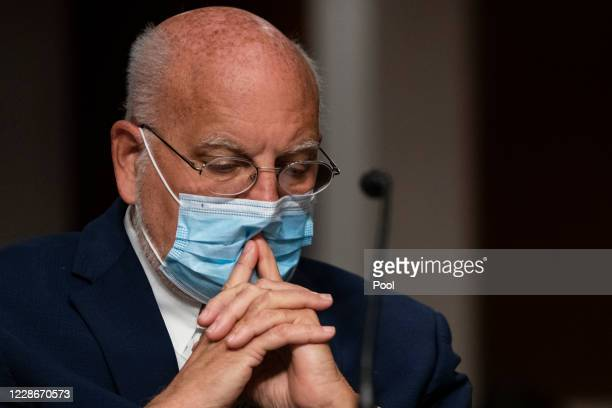 Centers for Disease Control and Prevention Commissioner Robert Redfield testifies at a hearing of the Senate Health, Education, Labor and Pensions...
