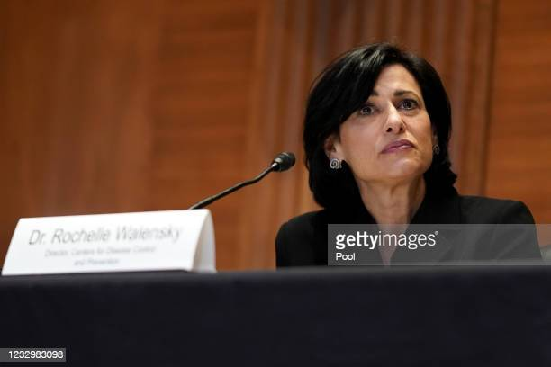 Centers for Disease Control and Prevention Director Dr. Rochelle Walensky answers is seen during a Senate Appropriations Subcommittee hearing to...