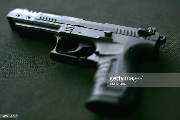 A Walther P22 pistol which according to media reports is similar to one of the weapons used by 23yearold South Korean student Cho SeungHui in the...