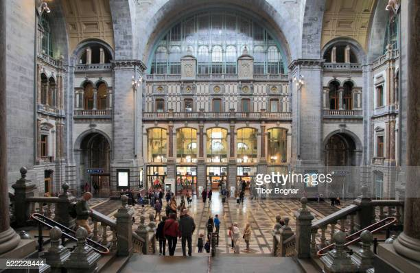 centraal station in antwerp, belgium - station stock pictures, royalty-free photos & images