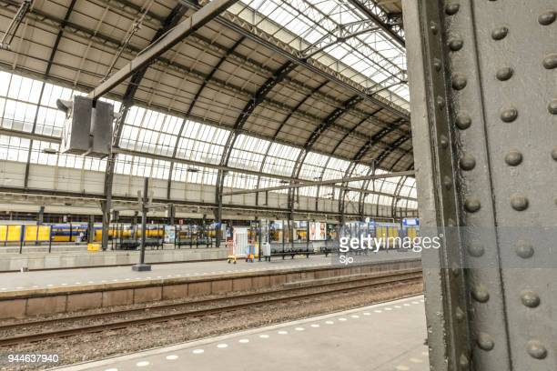 Centraal Station train station in the city of Amsterdam, The Netherlands