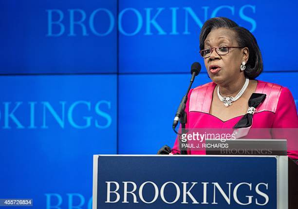 Central African Republic Interim President Catherine Samba-Panza speaks at the Brookings Institute September 19 in Washington, DC. Over the past...
