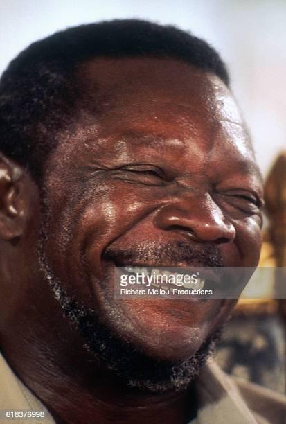 Central African Republic President JeanBedel Bokassa laughs