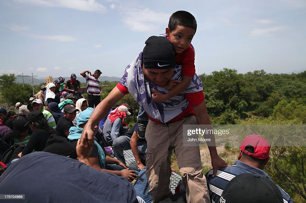Central Americans Undertake Grueling Journey Through Mexico To U.S. : News Photo