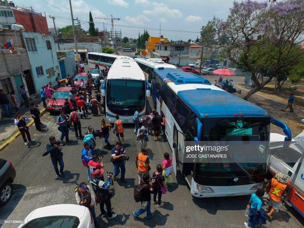 MEXICO-US-MIGRATION-CARAVAN : News Photo