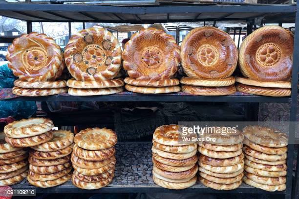 central asian flatbread - osh stock pictures, royalty-free photos & images