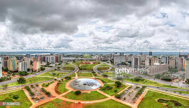 central brasilia view from the tv tower - distrito federal brasilia stock pictures, royalty-free photos & images