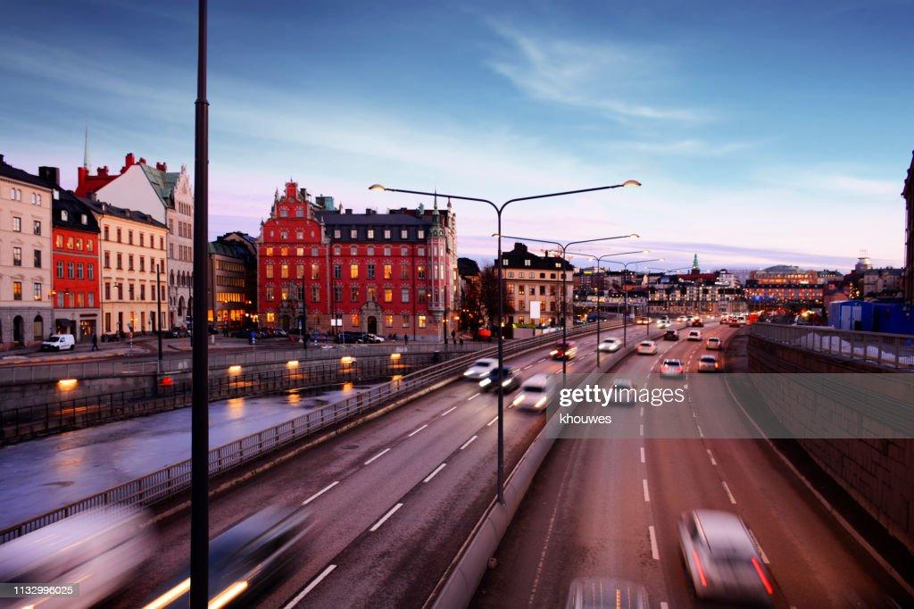 Central Bridge Highway, Stockholm : Stock Photo