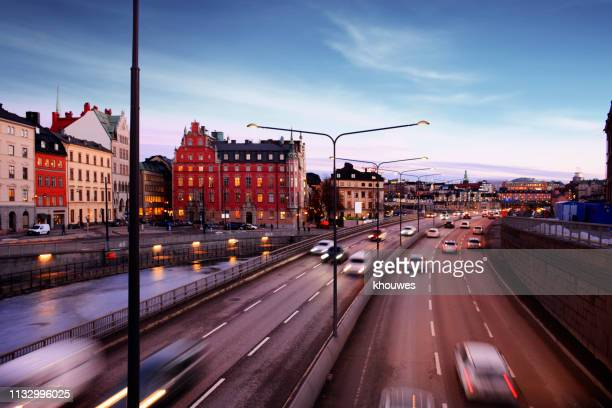 central bridge highway, stockholm - traffic stock pictures, royalty-free photos & images