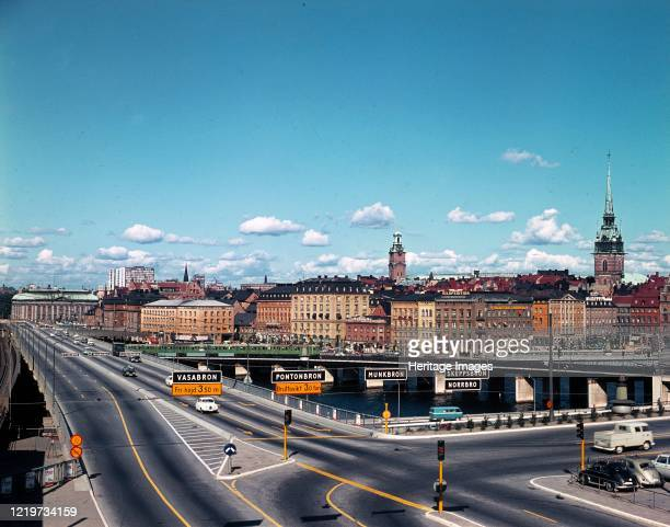 Central bridge, Stockholm, Sweden, 1960s. Artist Unknown.