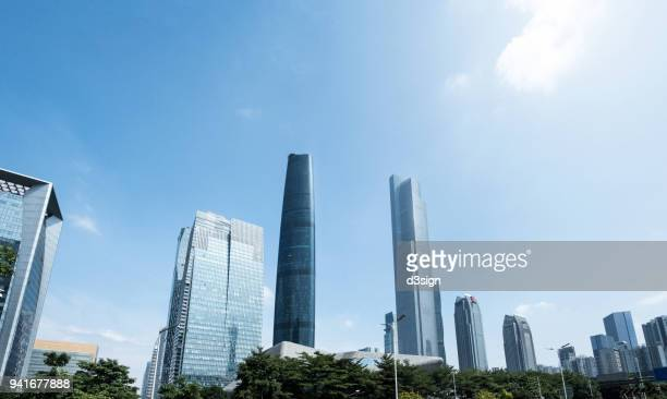 Central Business District at Zhujiang Avenue West in the Tianhe District of Guangzhou, Guangdong, China