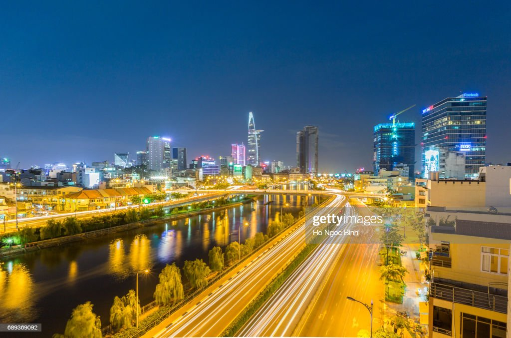 Central Business District of Ho Chi Minh city : Stock Photo