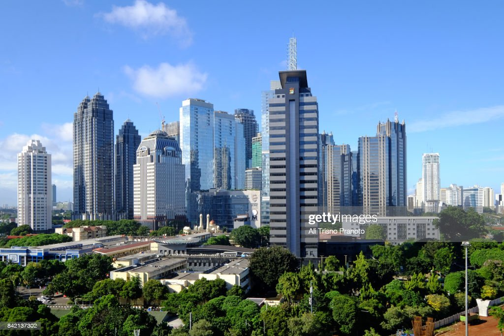 Central Business District of SCBD, Jakarta Skyline. : Stock Photo
