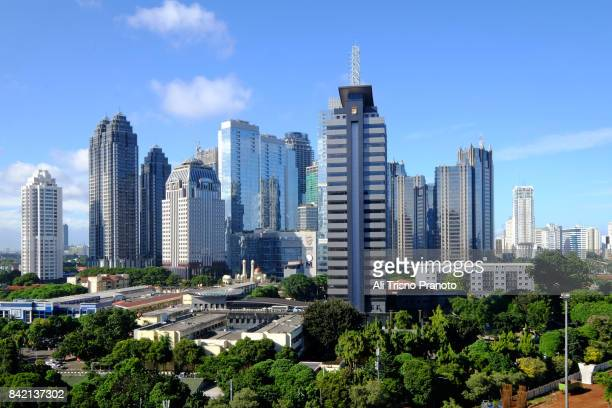 Central Business District of SCBD, Jakarta Skyline.