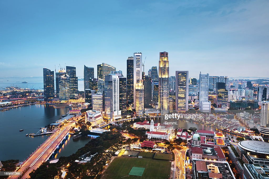 Central Business District Singapore City Stock Photo ...