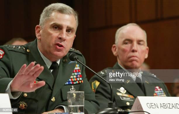 Central Command Commander Gen. John Abizaid testifies as Multi-National Force-Iraq Deputy Commander for detainee Operations Maj. Gen. Geoffrey Miller...