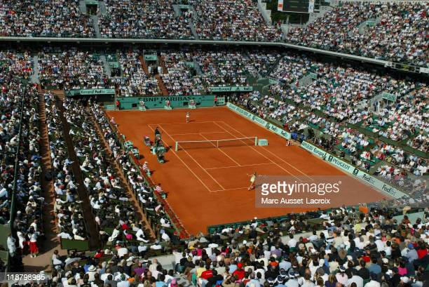 Central Court Philippe Chatrier during 2006 French Open Atmosphere at Roland Garros in Paris France