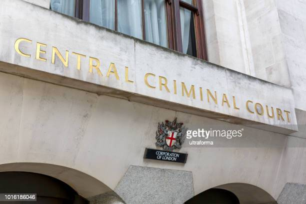 central criminal court of england and wales in london - old bailey stock photos and pictures