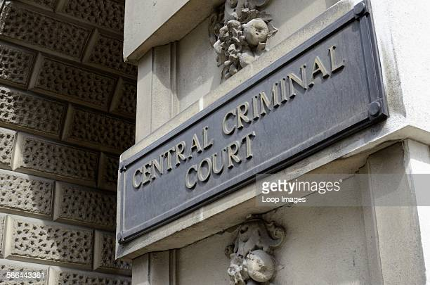 Central Criminal Court sign outside the Old Bailey