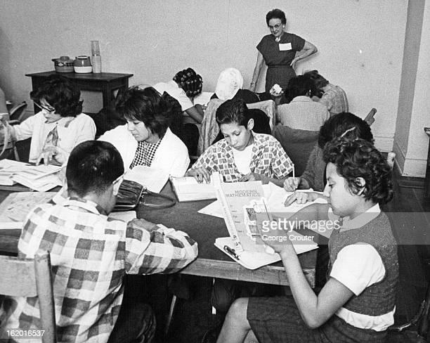 NOV 18 1963 NOV 27 1963 Central Denver Study Hall Is Used By School Pupils For Homework Pupils under supervision of Mrs R E Duncan 2142 S Gilpin St...